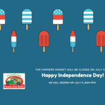 We are closed for July 4th!