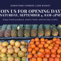 Market Re-opens on September 4!